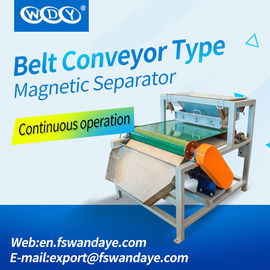 Strong Magnetic Separator Machine For Plastic Industry / Silica Sand / Ceramics / Plastic